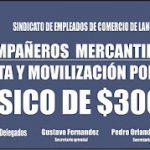 """Empleados de Comercio: desde el gremio se pretenden $3000 de """"básico"""""""