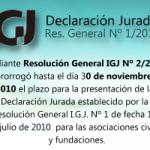 IGJ: Preguntas frecuentes sobre la Declaración Jurada Resolución 1/2010