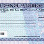 El cheque cancelatorio entra en vigencia a partir de hoy