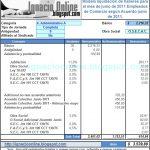 Empleados de Comercio: liquidación de sueldo Junio de 2011