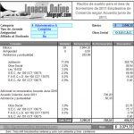 Empleados de Comercio: liquidación de sueldo Noviembre de 2011