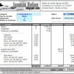 Liquidación de haberes para el mes de Agosto de 2012 según el nuevo acuerdo de empleados de comercio – Jornada Parcial.