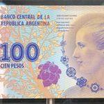 Salió a circulación el billete de 100 pesos con la imagen de Eva Perón