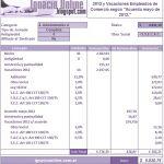 Empleados de Comercio: Liquidación de vacaciones diciembre de 2012 – Ejemplo
