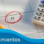 Agenda vencimientos semana del 29 de Julio al 2 de Agosto de 2013
