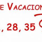 ¿Cuántos días de vacaciones me corresponden?