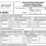 Nuevo Formulario 102 pago ART Servicio doméstico