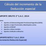 Ganancias: Cálculo del Incremento de la Deducción Especial aguinaldo diciembre 2014