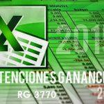 Planilla excel cálculo retenciones Ganancias 2015 con modificaciones RG 3770
