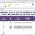 Planilla Régimen de Información de Compras y Ventas RG 3685 – VENTAS