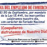 Rosario: los mercantiles tendrán el feriado el día miércoles 30