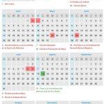 Calendario de feriados 2016 (por el momento)