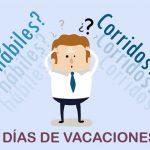Vacaciones ¿días hábiles o corridos?