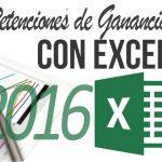 Planilla excel cálculo retenciones Ganancias 2016