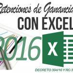 Planilla excel cálculo retenciones Ganancias 2016 – RG 3831