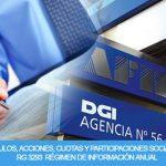 Acciones y Participaciones: vencimiento del Régimen de Información Anual