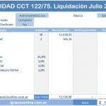 Sanidad: Liquidación de haberes Julio 2016 CCT 122/75