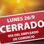 Día del Empleado de Comercio y franco compensatorio