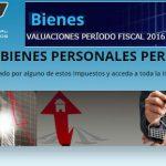 Bienes Personales período 2016: Valuaciones computables e informaciones complementarias