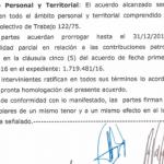 FATSA: acta prórroga parcial contribuciones patronales