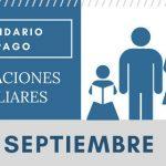 Asignaciones Familiares calendario de pago Septiembre 2017