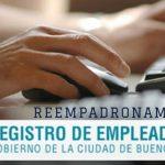 Reempadronamiento en el «Registro de Empleadores On Line» desde octubre