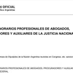 Ley 27423 de Honorarios Profesionales de abogados