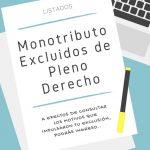 Monotributo Listado Excluidos de Pleno Derecho Mayo 2018