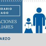 Asignaciones Familiares calendario de pago Marzo 2018