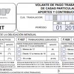 Servicio Doméstico: nuevo Formulario 102/RT editable 2018
