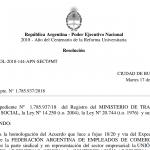 Empleados de comercio homologación acuerdo 2018