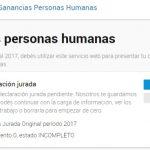 Paso a paso Declaración Jurada de Ganancias Personas Humanas