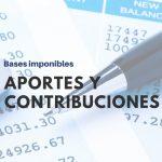 Base imponible máxima y mínima Septiembre 2019 aportes y contribuciones