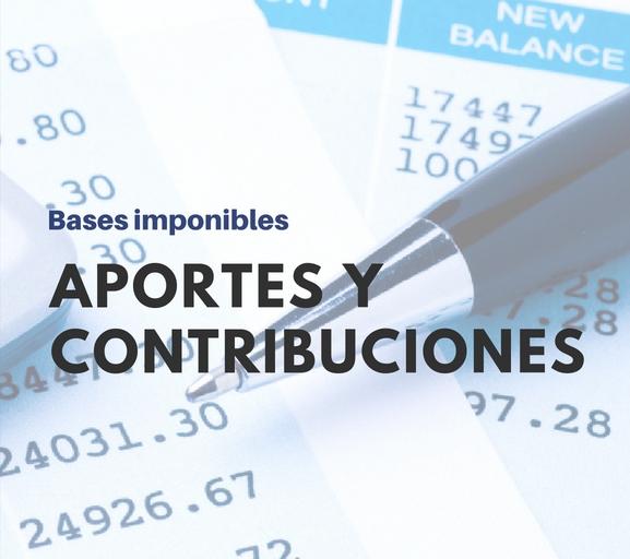 Base Imponible Máxima Y Mínima Septiembre 2019 Aportes Y