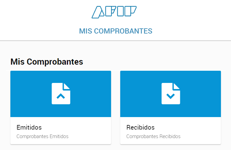 AFIP Mis Comprobantes digitales facturas recibidas y emitidas