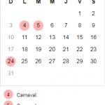 Las vacaciones y los feriados de Carnaval 2019