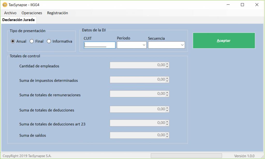 TaxSynapse una App  para presentar el formulario 1357