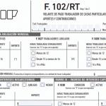 Servicio Doméstico: Formulario 102/RT vigente desde abril 2019