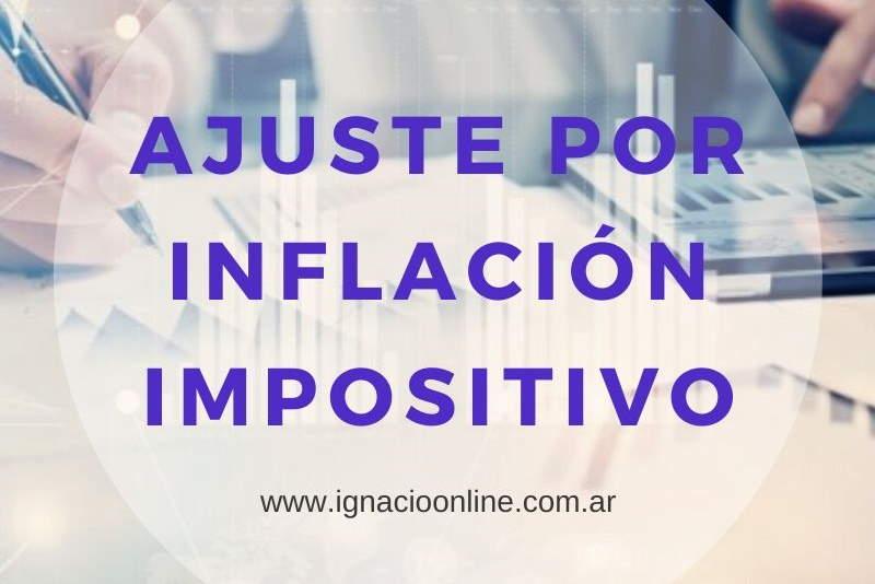 Ajuste por inflación impositivo AFIP