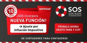 SOS Contador Ajuste por Inflación Impositivo